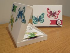 CraftyCarolineCreates: Watercolor Wings Card Gift Box, Handmade Papercraft with Stampin Up Products, Watercolour Wings