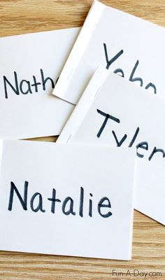 Name Books for Preschool and Kindergarten - easy to make and super engaging for kids - great way to teach names and letters