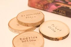 Items similar to Harry Potter Dwellings Coasters- Set of 4 on Etsy