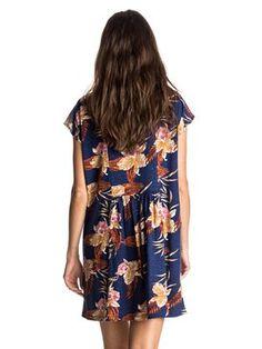 roxy, Surfin Seafari - Short Dress, CASTAWAY FLORAL BLUE PRINT (bsq6)