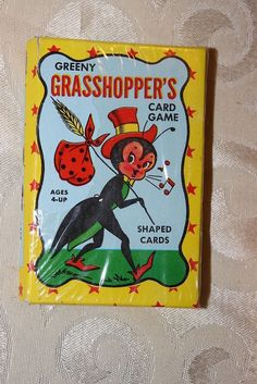 Vintage Warren Built-Rite Co Greeny Grasshoppers  Card Game Shaped Cards Sealed