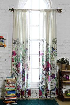 Plum & Bow Forest Critter Curtain NEED this arrow rod in my room! My New Room, My Room, Spare Room, Cortina Boho, Beautiful Bedrooms, Beautiful Homes, Beautiful Curtains, Interior And Exterior, Interior Design