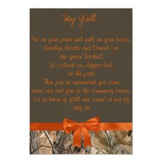 Camo Wedding Invitations Camo Wedding Invitation