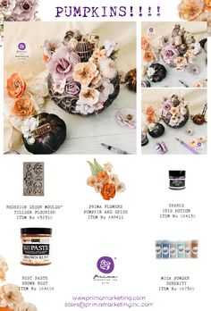 Click to check out our products and find a retailer near you! #primamarketinginc #createwithprima #PrimaMarketing #Prima #PrimaFlowers #scrapbook #mixedmedia #art #embellishment #flowers #Finnabair #Finnabairmixedmedia Finnabair Mixed Media, Prima Marketing, Fall Pumpkins, Other Accessories, Embellishments, Scrapbook, Flowers, Art, Art Background