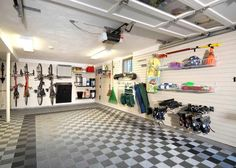 Clean and Cool garage #GarageFlooring