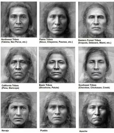 Average Faces of Native American Tribes Average Faces of . - Average Faces of Native American Tribes Average Faces of Native American Tri -