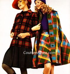 Couture Allure Vintage Fashion: Mad For Plaid - 1972