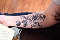 Hey, I found this really awesome Etsy listing at https://www.etsy.com/listing/229363585/temporary-tattoo-black-floral-vintage