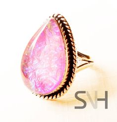 SNH  Handmade Pinfire Opal Ring by SNHJewels on Etsy