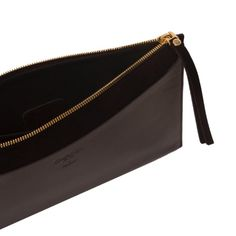 MUANGA | Blair Clutch in black calf leather with suede