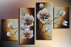 Ručně malovaný obraz - květiny 050