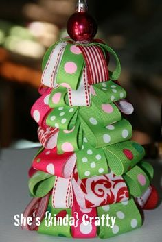 DIY Christmas Ribbon Wreath And Tree | Shelterness