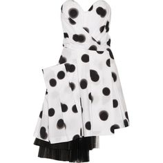 Marc by Marc Jacobs Polka-dot stretch-cotton poplin mini dress (2,265 MYR) ❤ liked on Polyvore featuring dresses