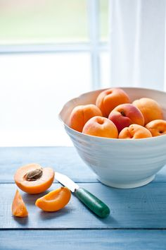 Apricots...nothing sweeter and better than the apricots from my parents trees....yum! :D