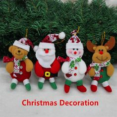 12 pcs/sets Mini Lovely Santa Claus Snowman Reindeer Doll Bear Toy Decoration Christmas Tree Hanging Ornaments Pendant Best Gift-in Christmas from Home & Garden on Aliexpress.com | Alibaba Group