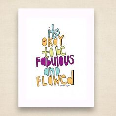 fabulous & flawed by Jenipher Lyn / Cherry Runway, $15.