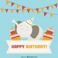 Diseño de tarjeta de cumpleaños en formato vectorial