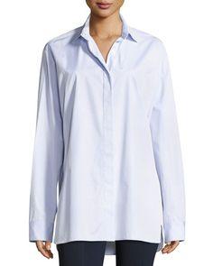THE ROW Big Sisea Twill Shirt, Light Blue. #therow #cloth #