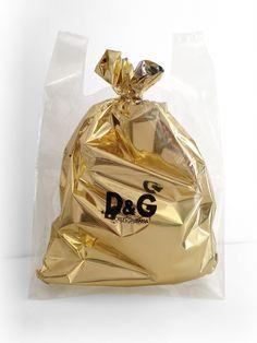 D&G Gold Carrier Bag.