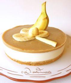 Torta fredda di yogurt e banana con agar- agar. Ricetta facile e veloce.