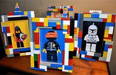 Lego picture frames - I think Noah Boah would look good in a couple of these!!!