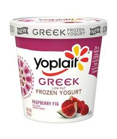 Yoplait Frozen Yogurt Greek Raspberry Fig: The surprisingly delicious combination of sweet, plump figs and tart raspberries studs the light, airy yogurt base and looks pretty on a cone.