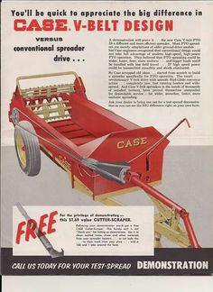 Ad for J. I. Case spreader