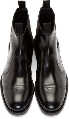 Jimmy Choo Black Leather James Chelsea Boots