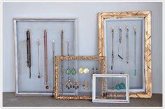 DIY: molduras para organizar jóias e bijoux