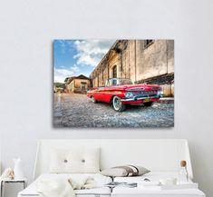 Πίνακας σε καμβά, τελαρωμένος – έτοιμος για τοποθέτηση   Εκτύπωση θέματος με ψηφιακή εκτύπωση σε καμβά 100% βαμβακερό  Τελάρο κουτί 4,5 cm Vintage, Gallery, Car, Automobile, Roof Rack, Vintage Comics, Autos, Cars