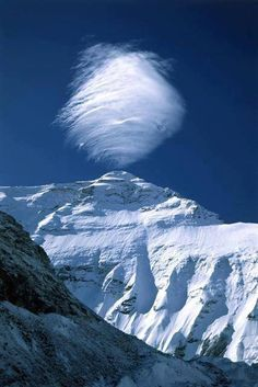 Like a spinning top on the crest! --Pia (cloud formation over Mount Everest).