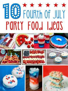 10 Fourth of July Party Food Ideas | cupcakediariesblog.com | pinned over 5,000 times