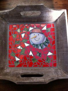 Christmas mosaic.