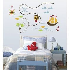 Pirate wall decals.