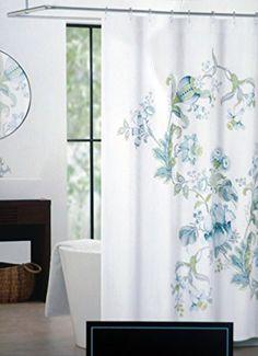Cynthia Rowley Fabric Shower Curtain Green Blue Yellow Fl