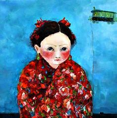 Cezara Kolesnik(born in Moldova, lives in France) True Art, Red Riding Hood, Art Plastique, Naive, Little Red, Oil On Canvas, Fairy Tales, Elephant, Artsy