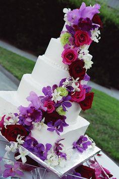 Floral wedding cake topper/decoration