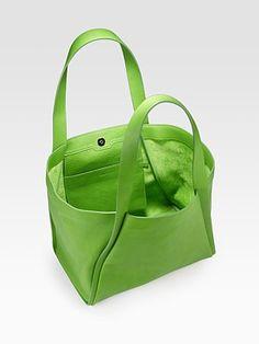 Leaf green tote construction/design