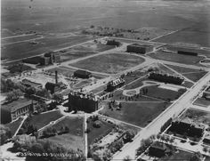 So amazing University of Wyoming campus...with Old Main as it's center    UW 365     Aerial view of campus circa 1929.