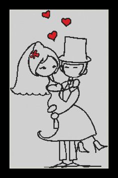 In Your Arms wedding Cross Stitch Download pdf by Lovethythreads, £4.00