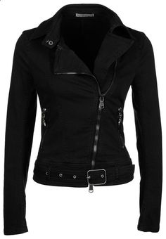 black denim jacket | Patrizia Pepe