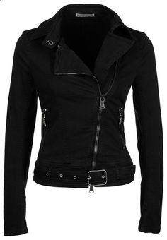 black denim jacket | Patrizia Pepe
