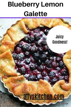 A galette is a round pastry wrapped and fruit filled dessert that is baked on a baking sheet. #fruitdessert #blueberryrecipe Homemade Desserts, Easy Desserts, Delicious Desserts, Dessert Recipes, What Is A Galette, Lemon Cream Cake, Blueberry Galette, My Favorite Food, Favorite Recipes
