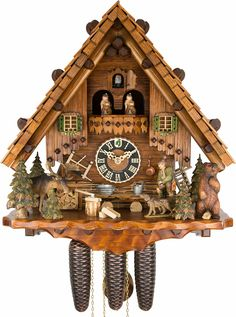 Cuckoo Clock 8-day-movement Chalet-Style 44cm by Hönes - 8635T