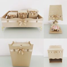 Kit Bebe, Unique Baby, Baby Decor, Crafts To Make, Decorative Boxes, Baby Shower, Storage, Simple, Furniture