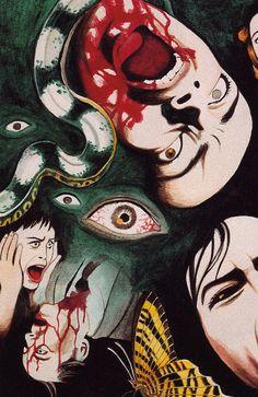 Surrealistic Horror by Suehiro Maruo Japanese Horror, Japanese Art, Kunst Inspo, Art Inspo, Arte Horror, Horror Art, Art And Illustration, Ero Guro, Art Vintage