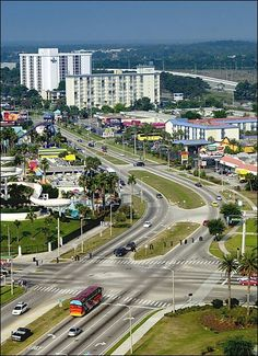 Orlando, FL international drive.When I lived here in the early 80's this was just a dream. and full of orange groves!