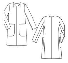 Пальто - выкройка № 113 из журнала 2/2012 Burda – выкройки пальто на Burdastyle.ru