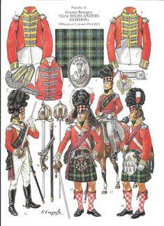 92° Highlanders (Gordon) Officiers et Colonel 1814-1815