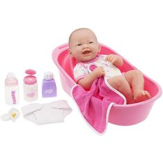 "JC Toys Berenguer 14"" La Newborn Doll with Bath Set"